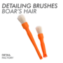 Detailing Factory Brush Long/Short Combo Boars's Hair - auto detailing borstels