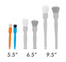 Detailing Factory Mini-Brush Set - One Orange + One Blue